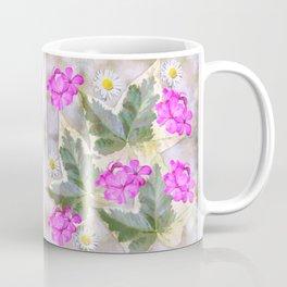 Leaves and flowers, digital painting Coffee Mug