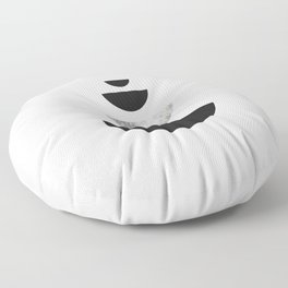 Minimal Abstract Half Moon Floor Pillow
