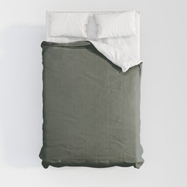 Plain Dark Sage Green with Soft Relaxing Texture Comforters