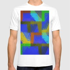 Colorful Truth. Blue. White Mens Fitted Tee MEDIUM