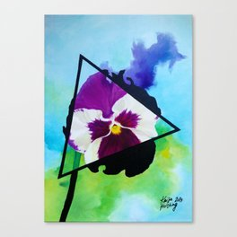 Broody Pansy Canvas Print