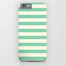 Mint Green Stripes  iPhone 6 Slim Case