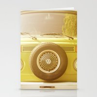volkswagon Stationery Cards featuring Retro VW by ShadeTree Photography