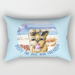 Dusty the Dog and Friends Rectangular Pillow