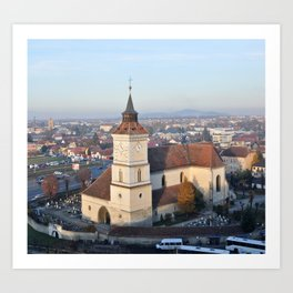 St Bartholomew Church Brasov Art Print
