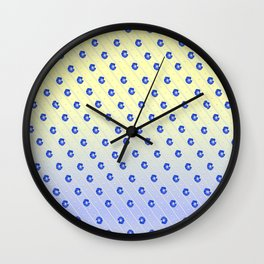 Stripes and Morning Glories Wall Clock