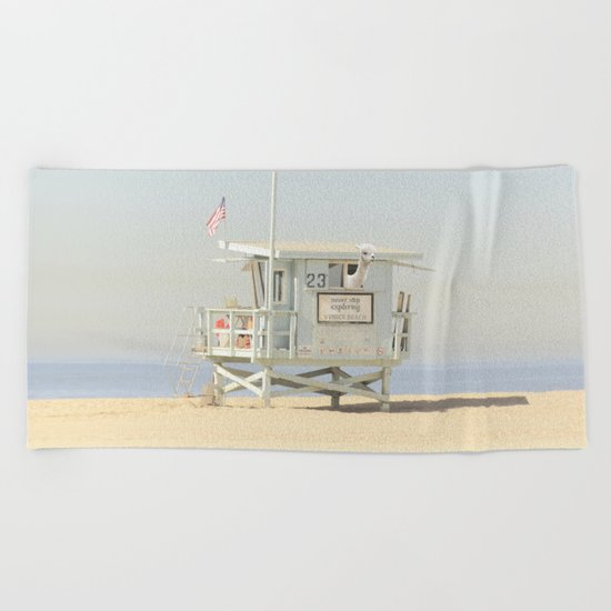 NEVER STOP EXPLORING VENICE BEACH No. 23 Beach Towel