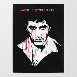 Scarface movie portrait Poster