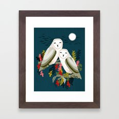 Two Owls by Andrea Lauren Framed Art Print