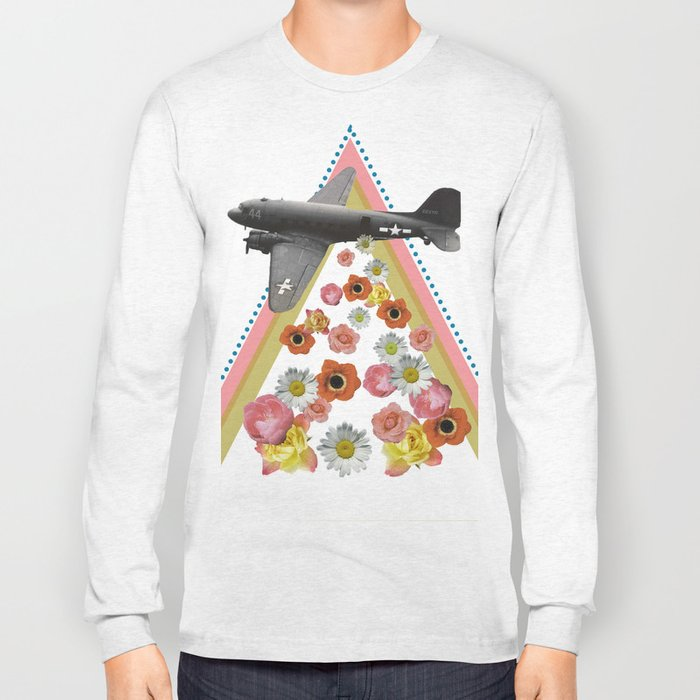 in my world, flowers come out of army planes Long Sleeve T-shirt