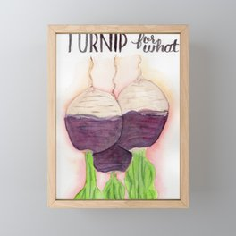 Turnip for what Framed Mini Art Print