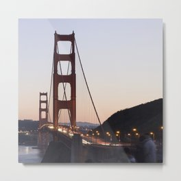 Golden Gate Bridge at Twilight Metal Print