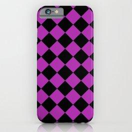Rhombus (Black & Purple Pattern) iPhone Case