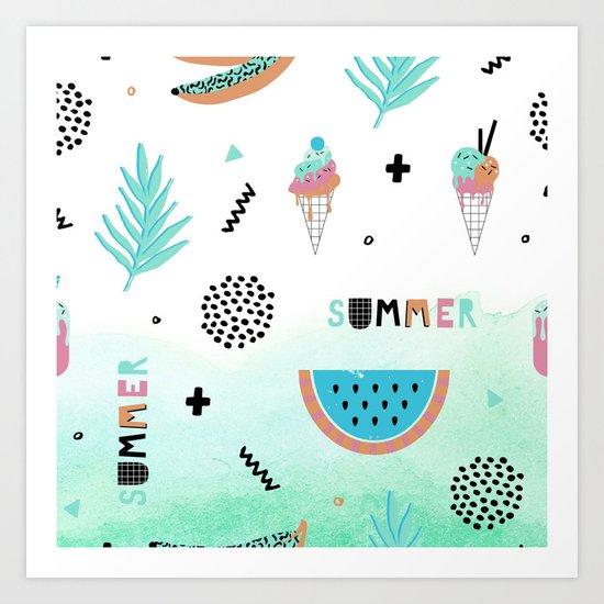 Memphis summer Art Print