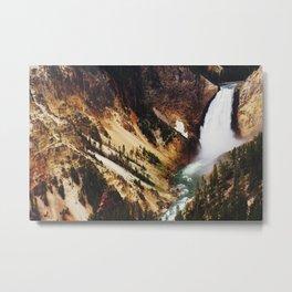Yellowstone Falls Metal Print