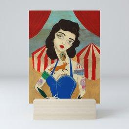 Tattooed Lady Mini Art Print