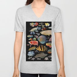 Freshwater tropical fish Unisex V-Neck