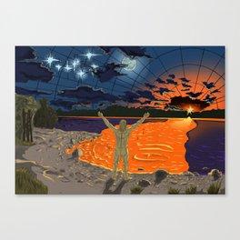 Kalevala Series #1 Wainamoinen in the Beginning Canvas Print