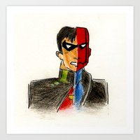 The red hood Art Print