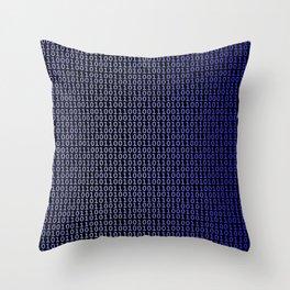 Binary Blue Throw Pillow