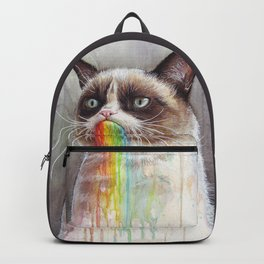 Cat Tastes the Grumpy Rainbow Backpack