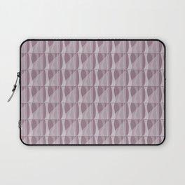 Simple Geometric Pattern 2 in Musk Mauve Laptop Sleeve