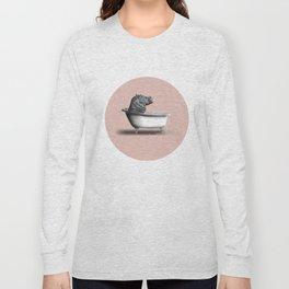 Hippo in Bath Long Sleeve T-shirt