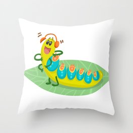 Poisonous Caterpillars Throw Pillow