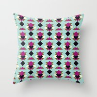 solid Throw Pillows featuring Nu Solid by Leandro Pita
