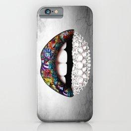lips and Diamonds iPhone Case