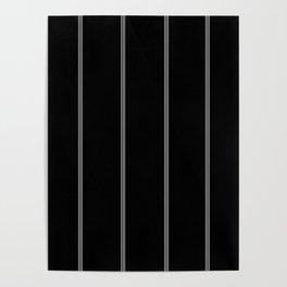 Minimal Black White Stripe Glam #1 #lines #decor #art #society6 Poster