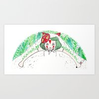 princess mononoke Art Prints featuring Mononoke by Geeniejay