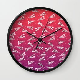 A Pennant for Angry Feminism Wall Clock
