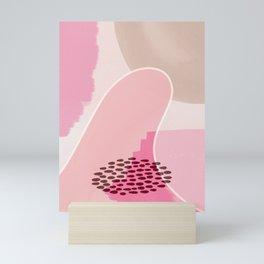 EMMA :: Modern Abstract Painting Brush Strokes Color Palette Light Pink Fuchsia Blush Pop Art Mini Art Print