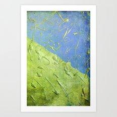 Peridot Rain Art Print