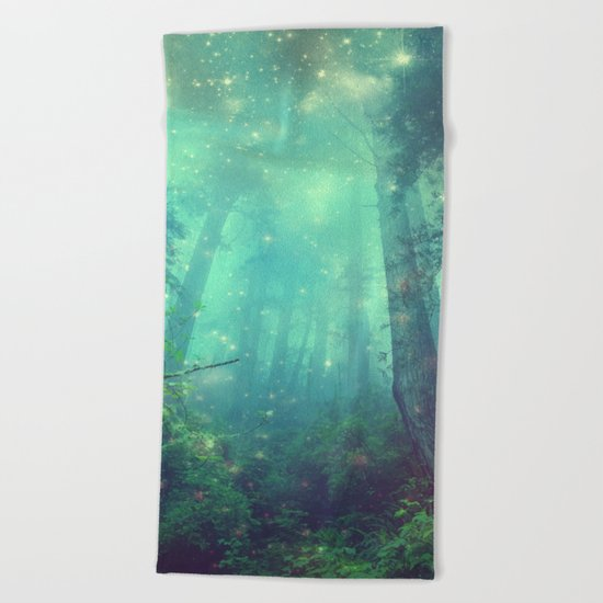 Enchanted Forest II Beach Towel