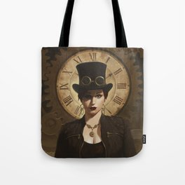 Mechanism, Steampunk Pin-Up Tote Bag