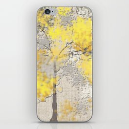 Abstract Yellow and Gray Trees iPhone Skin