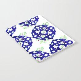 ethnic pattern blue Notebook