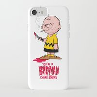 charlie brown iPhone & iPod Cases featuring You're a Bad Man Charlie Brown by Chris Piascik