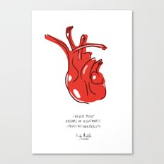 Frida Heart Canvas Print