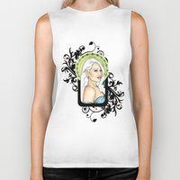 mother of dragons Biker Tanks featuring Mother of Dragons by CatAstrophe