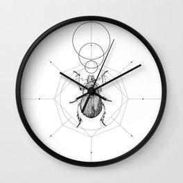 Dots, Lines & Beetle Wall Clock