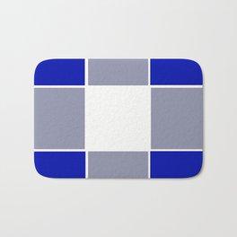 TEAM COLORS 3 ....BLUE ,GRAY Bath Mat