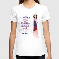mulan T-shirts featuring flower that blooms, mulan by studiomarshallarts