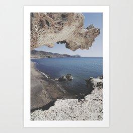 Arch beach Art Print