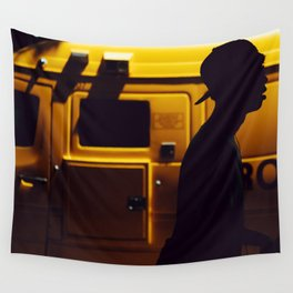 Yellow van Australian man Wall Tapestry