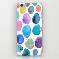 craftberrybush iPhone & iPod Skins featuring watercolor blobs by craftberrybush