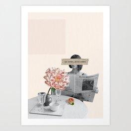 Breakfast at home Art Print