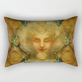 """Art Deco II The Chimera (Moth)"" Rectangular Pillow"